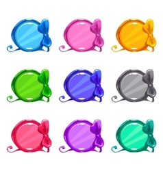Cute colorful cartoon round buttons vector image vector image
