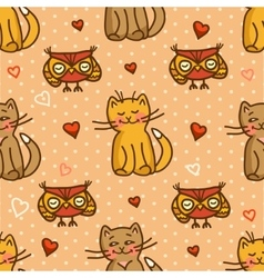cute valentines seamless background vector image vector image