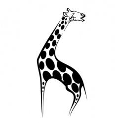 giraffe mascot vector image