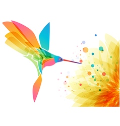 Hummingbird and flower vector image vector image