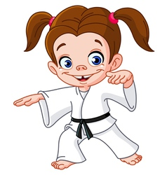 karate girl vector image vector image