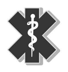 medical caduceus symbol vector image