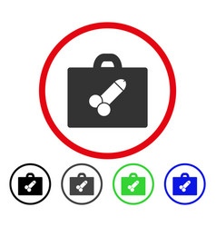 Sexual toolbox rounded icon vector