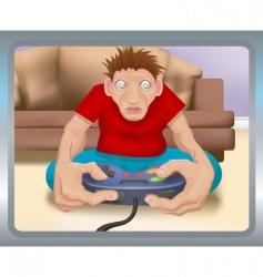 gamer illustration vector image