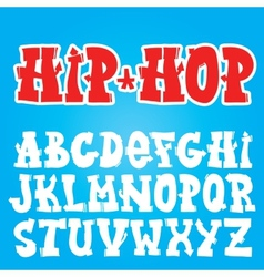 Old school graffiti font vector image vector image