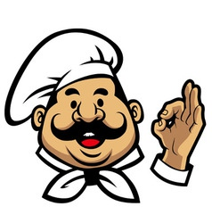 smiling chef face vector image