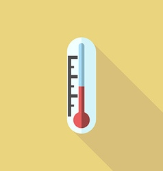 Thermometer flat style icon vector image vector image