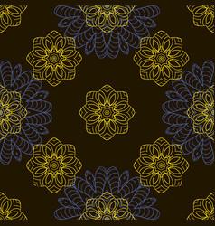 doodle seamless image mandala circular patterns vector image
