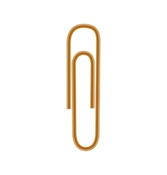 Paper clips icon realistic style vector image