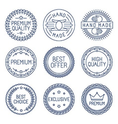Set of premium labels vector