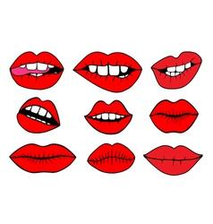 - Sweet lips vector image