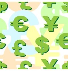 background business monetary symbols vector image