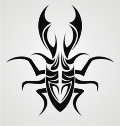 Beetle Tattoo Design vector image vector image