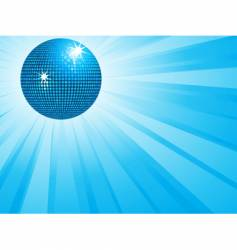 blue disco ball and wings vector image vector image