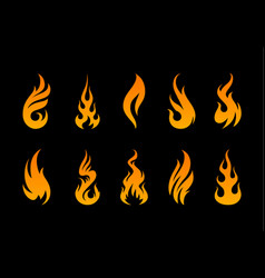 Flame shapes vector