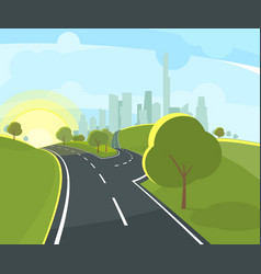 panoramic urban landscape vector image