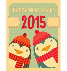 penguin new year vector image