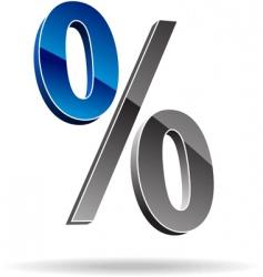 percent symbol vector image vector image