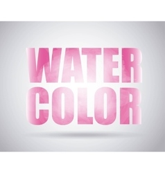 Pink text icon Watercolor design graphic vector image