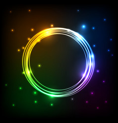 Abstract colorful plasma with circles background vector