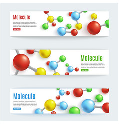 abstract molecule banner set for labs vector image