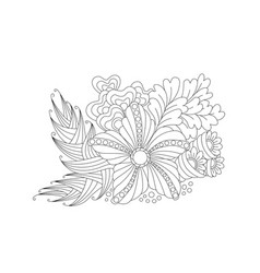 abstract monochrome floral composition vector image