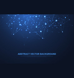 Abstract plexus background with connected lines vector