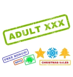Adult XXX Rubber Stamp vector