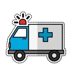 ambulance vehicle icon vector image