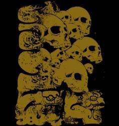 Ancient skull illustration vector