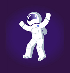 astronaut in space poster vector image