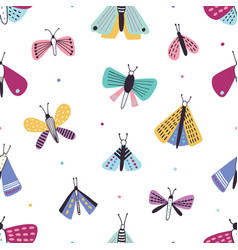 beautiful seamless pattern with colorful cartoon vector image