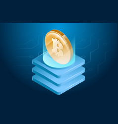 bitcoin cryptocurrency digital or electronic vector image