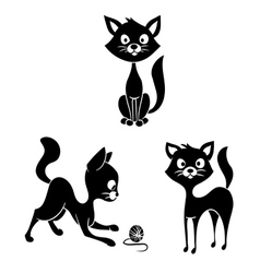 Black and white cats vector