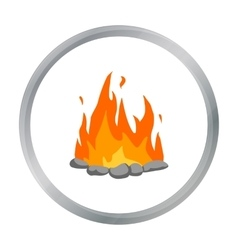 Bonfire icon cartoon Singe western icon from the vector
