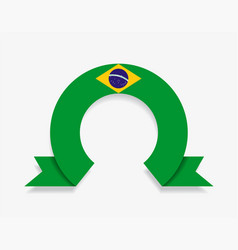 brazilian flag rounded abstract background vector image