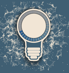 Bulb with progress bar vector