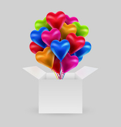 bundle colorful balloons in shape a vector image