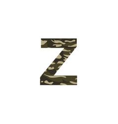 camouflage logo letter z vector image