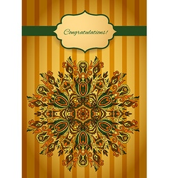 Card with abstract pattern vector image