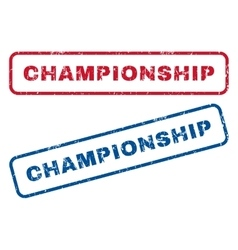 Championship Rubber Stamps vector