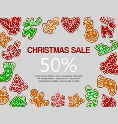 christmas gingerbread sale vector image