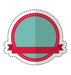circle seal stamp with ribbon frame vector image