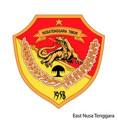 Coat arms east nusa tenggara vector