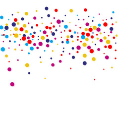 colorful round confetti frame isolated on vector image