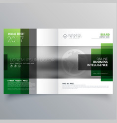 Company bifold leaflet brochure flyer or magazine vector