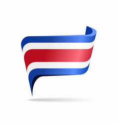 costa rican flag map pointer layout vector image