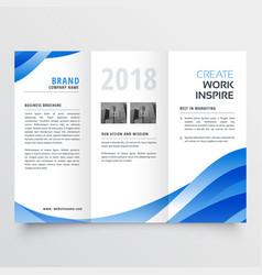 Creative tri-fold brochure design template vector