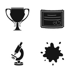cup invitation and other web icon in black style vector image