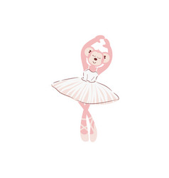 cute monkey ballerina cartoon vector image